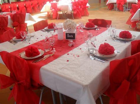 decoration mariage rouge  blanc la deco de marie