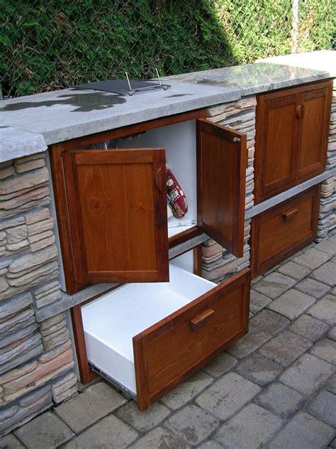 remarkable teak outdoor kitchen cabinets  side mount