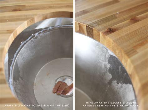 installing butcher block counters   undermount sink