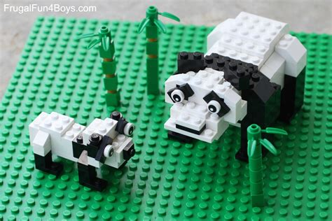 Lego Panda Bear Building Instructions  Frugal Fun For