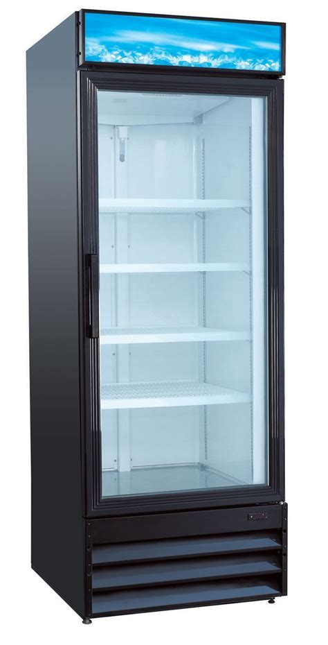U Star USRFS 1D/B 1 Door Glass Merchandising Refrigerator