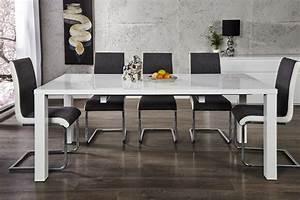 Tisch Weiß Hochglanz Ausziehbar : design esstisch lucente weiss hochglanz 120 200cm ausziehbar tisch riess ~ Buech-reservation.com Haus und Dekorationen