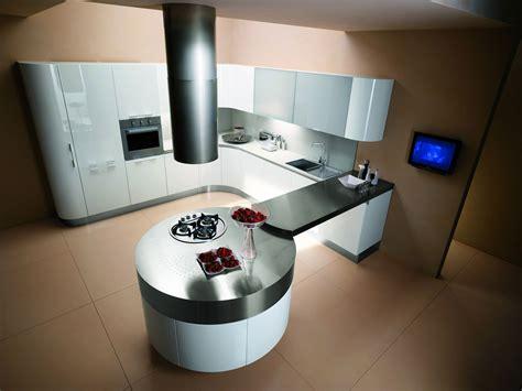 taille cuisine avec ilot central cuisine ronde 7 photo de cuisine moderne design