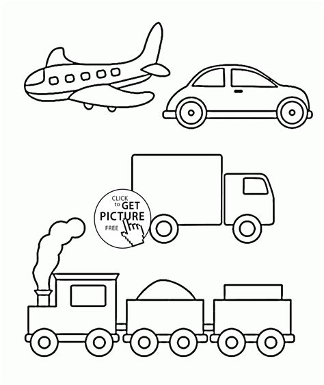 Coloring For Toddlers by Simple Coloring Pages Of Transportation For Toddlers