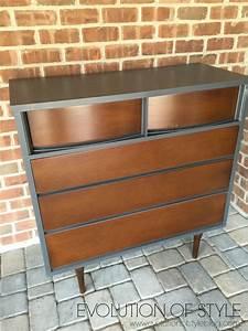 Furniture mid century modern dresser with brick wall