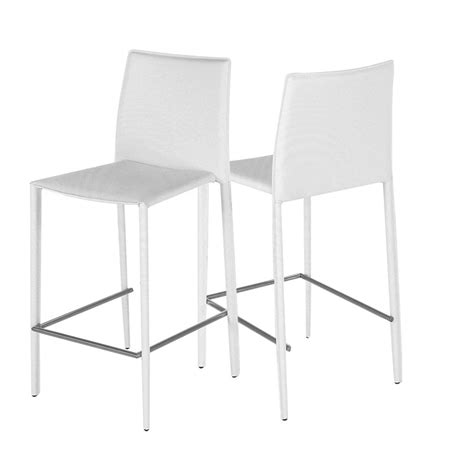 chaise de bar blanche chaise de bar blanche boréale lot de 2 zago store