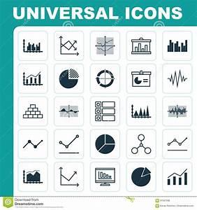 Set Of Graphs  Diagrams And Statistics Icons  Premium