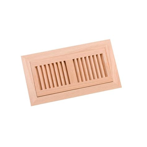 decor grates 4 in x 10 in unfinished oak louvered