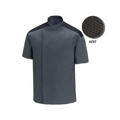 veste de cuisine manche courte veste de cuisine grise manches courtes