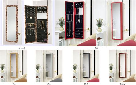Wall Mount Jewelry Mirror Armoire by Jewelry Armoire With Dressing Mirror Door Hang Or Wall