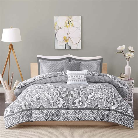 20731 grey bedding sets beautiful modern chic grey white bohemian global