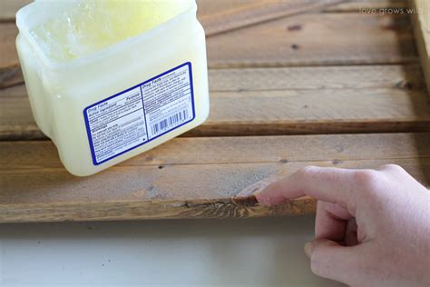 How To Distress Paint With Vaseline  Love Grows Wild