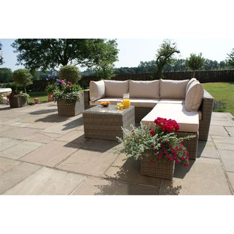 Maze Rattan Corner Sofa Set by Maze Rattan Set Winchester Square Corner Sofa Set Win 203044