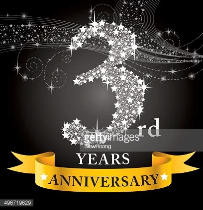 3rd year anniversary 3rd anniversary vector art getty images