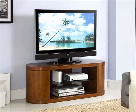 zennor curved walnut  glass tv cabinet