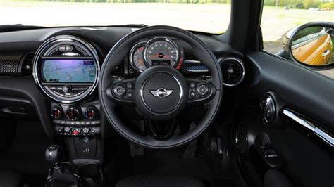 mini hatchback interior dashboard satnav carbuyer