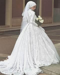 10 traditional islamic hijab wedding dresses With femme voilée robe de mariée
