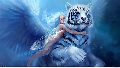 Fantasy Wallpapers Awesome Tiger Background Fairy Mythical