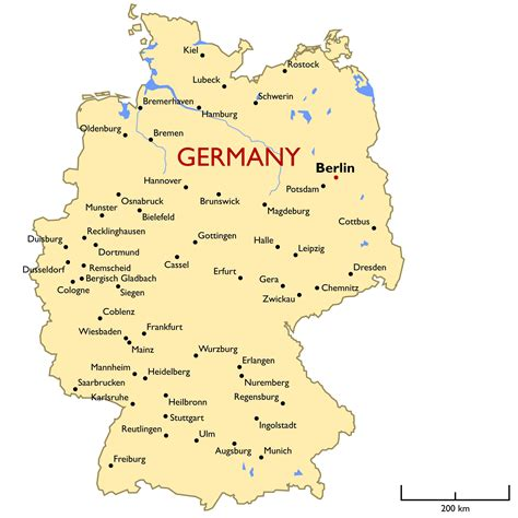 cities  germany map  travel information