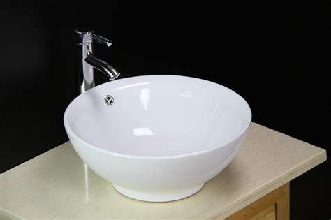 Basin Sink Bowl Countertop Ceramic Bathroom Vessel