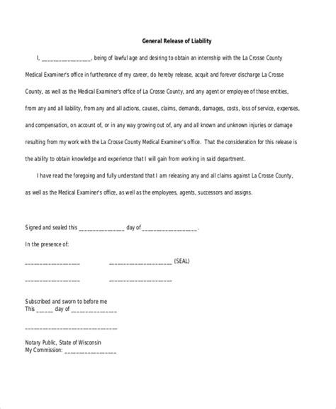general release form florida what is a workers compensation waiver form