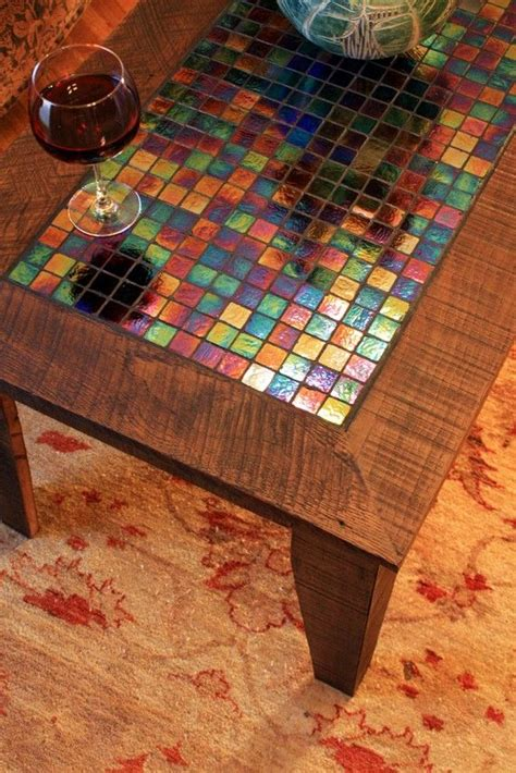 625 dollars large coffee table with irridescent glass