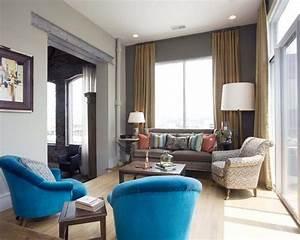 Wände Farblich Gestalten : wohnzimmer farblich gestalten 71 wohnideen mit der farbe blau ~ Lizthompson.info Haus und Dekorationen