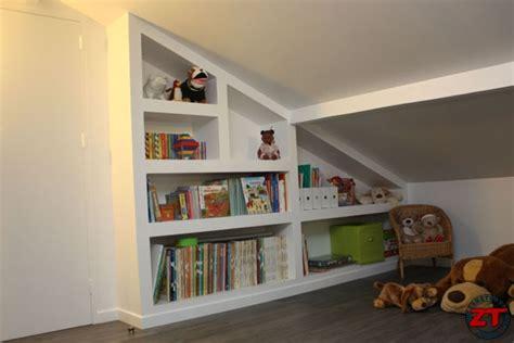 meuble bibliothèque bureau intégré brico réaliser une bibliothèque en placo sur mesure