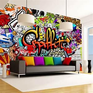 Graffiti Für Kinderzimmer : fototapete graffiti vlies tapete kinderzimmer wandbild xxl 3 farben f a 0348 a b ~ Sanjose-hotels-ca.com Haus und Dekorationen