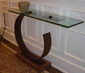 Console En Verre : console verre chicky design ~ Teatrodelosmanantiales.com Idées de Décoration