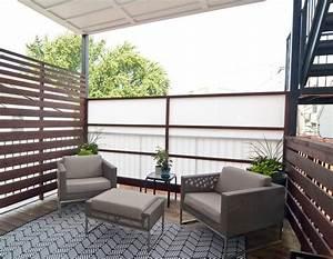 Salon Pour Balcon : brise vue balcon id es originales en 28 photos sympas ~ Teatrodelosmanantiales.com Idées de Décoration