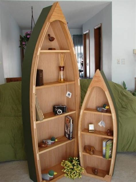Rowboat Bookcase by 6 Foot Handcrafted Wood Row Boat Bookshelf Bookcase Shelve