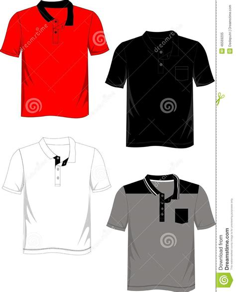 Tshirt Basic Template by T Shirt Template Polo Basic Stock Vector Image 46569205