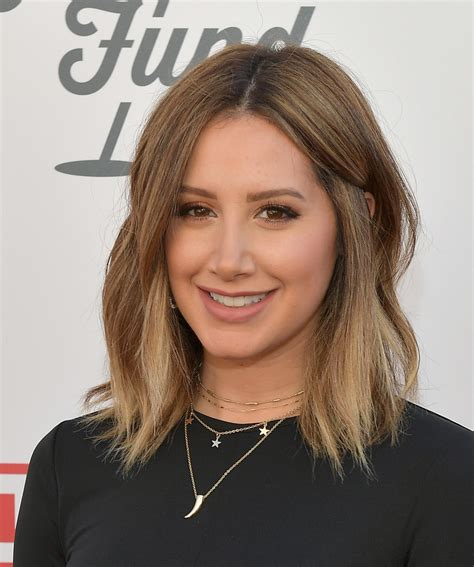 ashley tisdale shoulder length hairstyles  stylebistro