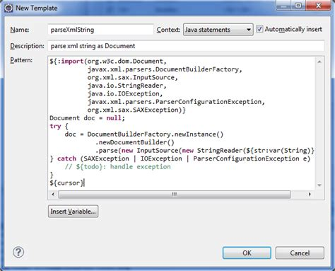 What Is Template In Java by Create Eclipse Templates For Faster Java Coding