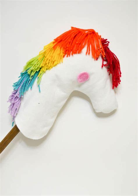 diy rainbow unicorn hobby horse adventure   box