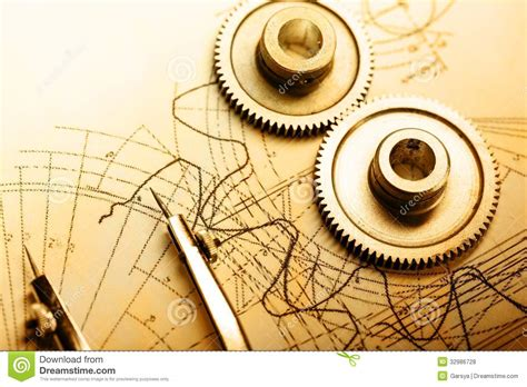 mechanical ratchets and drafting stock photo image of