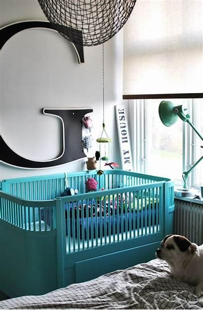 Turquoise Nursery Letter Crib Giant