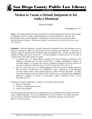 Motion To Vacate Dismissal - Fill Online, Printable