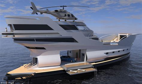 Yacht With Helipad by Luxury 200ft Yacht Caronte Has Its Own Helipad