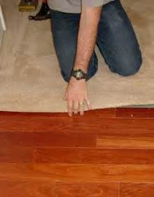installing carpet against hardwood floors by with photos