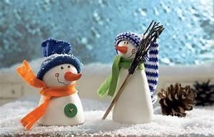 Basteln Winter Kinder : schneemann aus salzteig schneemann basteln ideen anleitung basteln and oder ~ Frokenaadalensverden.com Haus und Dekorationen