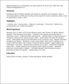 resume for assistant ob gyn professional ob gyn assistant templates to showcase your talent myperfectresume