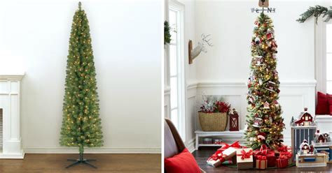 pencil trees christmas by ashland pre lit 7 foot pencil artificial tree only 39 99 shipped regularly 100 more