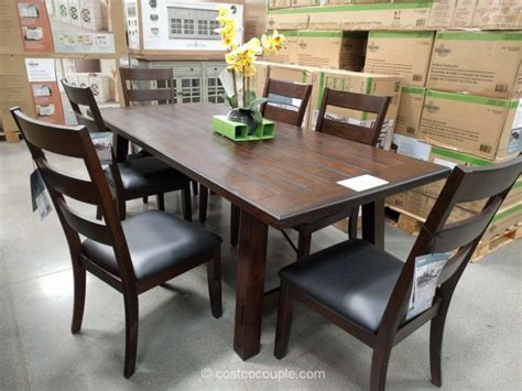 costco dining table in store bayside furnishings 9 piece dining set july 2017