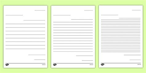 letter  future teacher writing template worksheet