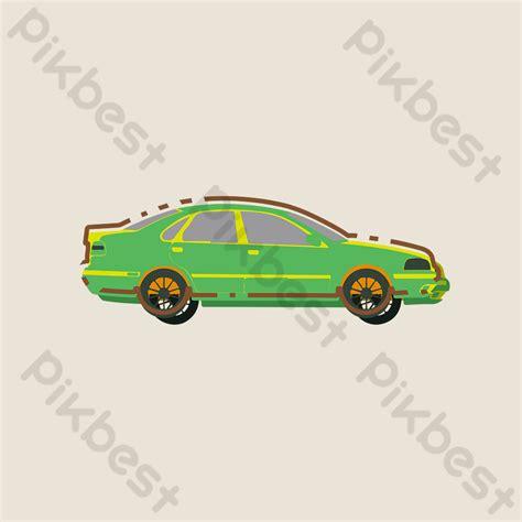 minimalistic flat cartoon mbe car sedan motor vehicle