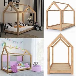 Lit Maison Enfant : lit montessori pour enfant 90x200 cm cielterre commerce ~ Farleysfitness.com Idées de Décoration