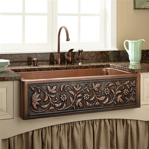 kitchen faucets for farm sinks 6 ways to use copper in your kitchen design