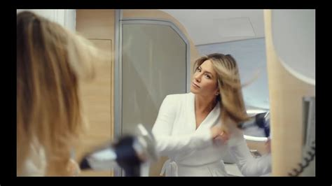 aniston shower emirates ad aniston tv commercial airbus a380